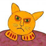 kat met nagellak - CMYK